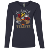 One Thankful Teacher 884L Anvil Ladies' Lightweight LS T-Shirt