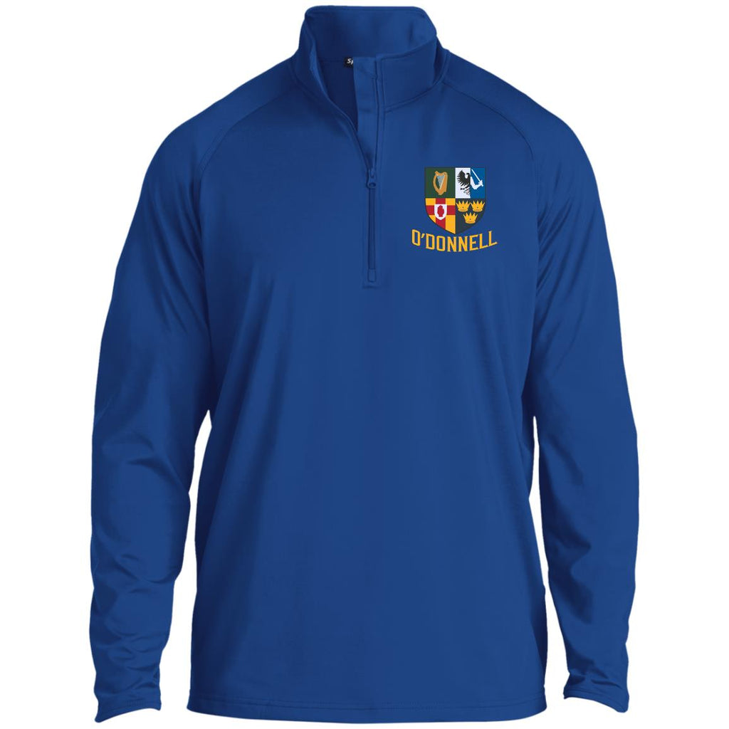 Irish Provinces Personalized Name Embroidery ST850 1/2 Zip Raglan Performance Pullover