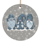 Hanging With My Grey Gnomies Ceramic Ornament