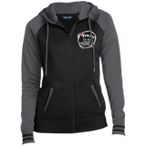 TEACHER OF ALL THING Sport-Tek Ladies' Sport-Wick® Full-Zip Hooded Jacket