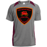 Concord, NH Fire Department ST361 Sport-Tek Heather Colorblock Poly T-Shirt