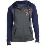 Love Nurse Firefighter Embroidered LST236 Sport-Tek Ladies' Sport-Wick® Full-Zip Hooded Jacket
