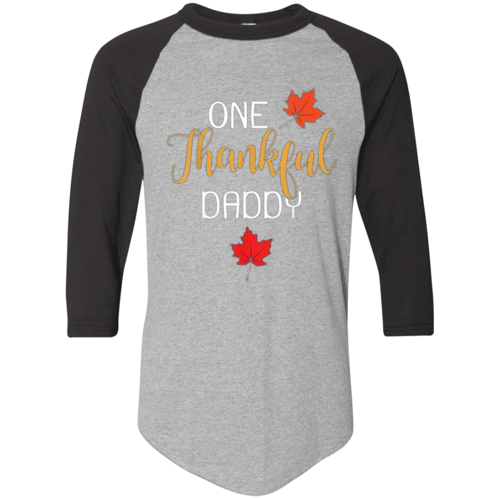 One Thankful DADDY 420 Augusta Colorblock Raglan Jersey
