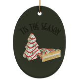 Tis The Season Ceramic Ornament