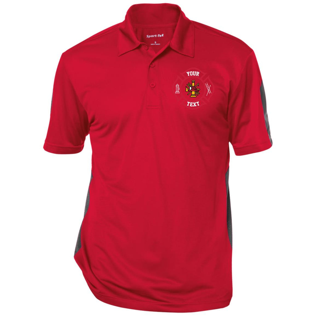 Embroidered Your Own Text TEECHIP ST695 Sport-Tek Performance Textured Three-Button Polo