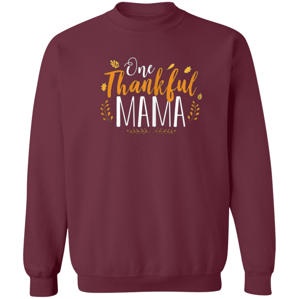 One Thankful MAMA G180 Gildan Crewneck Pullover Sweatshirt  8 oz.