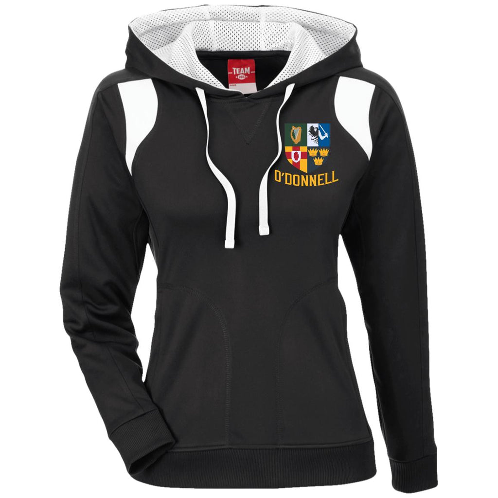 Irish Provinces Personalized Name Embroidery TT30W Ladies' Colorblock Poly Hoodie