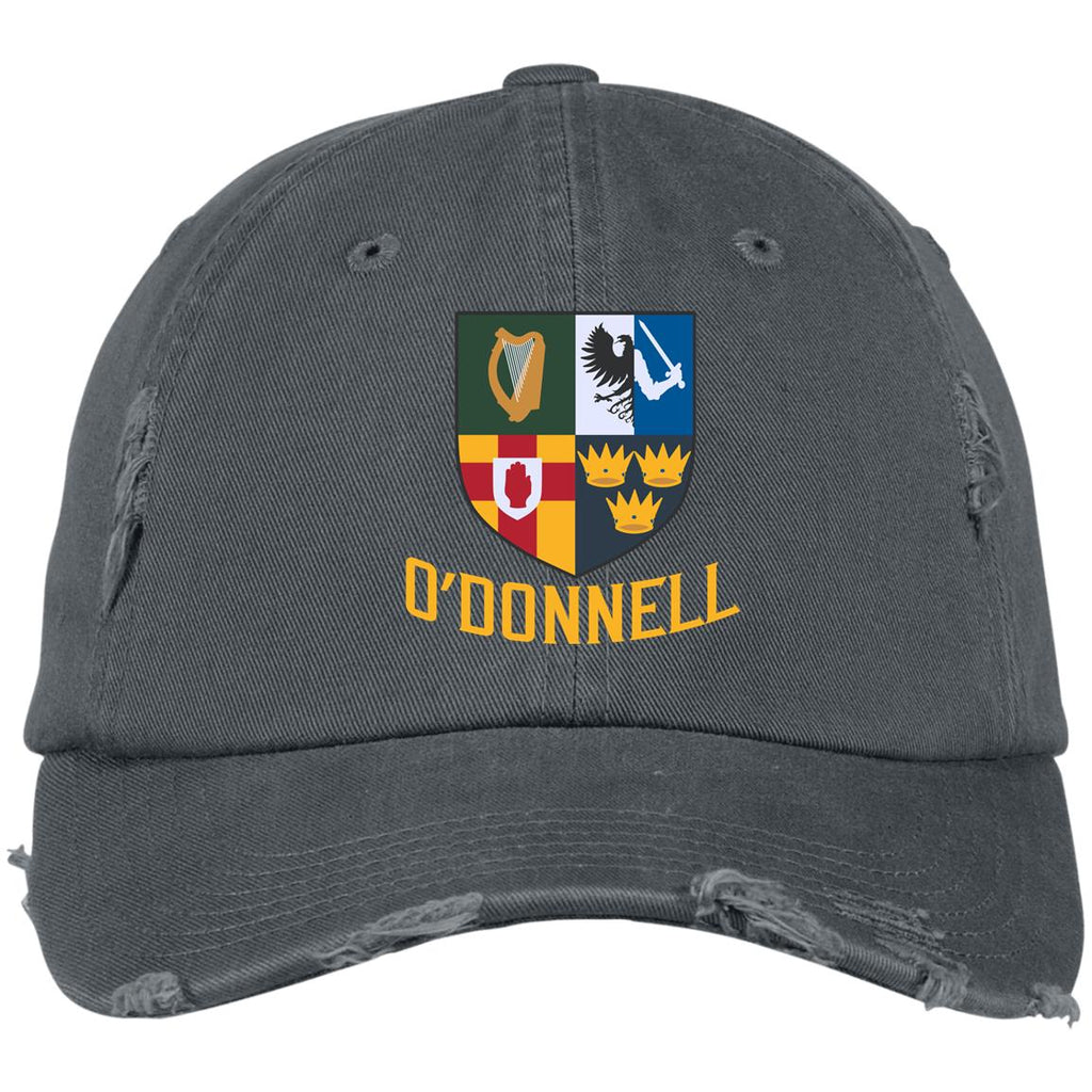 Irish Provinces Personalized Name Embroidery DT600 Distressed Dad Cap