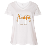One Thankful DADDY 3807 LAT Ladies' Curvy V-Neck T-Shirt