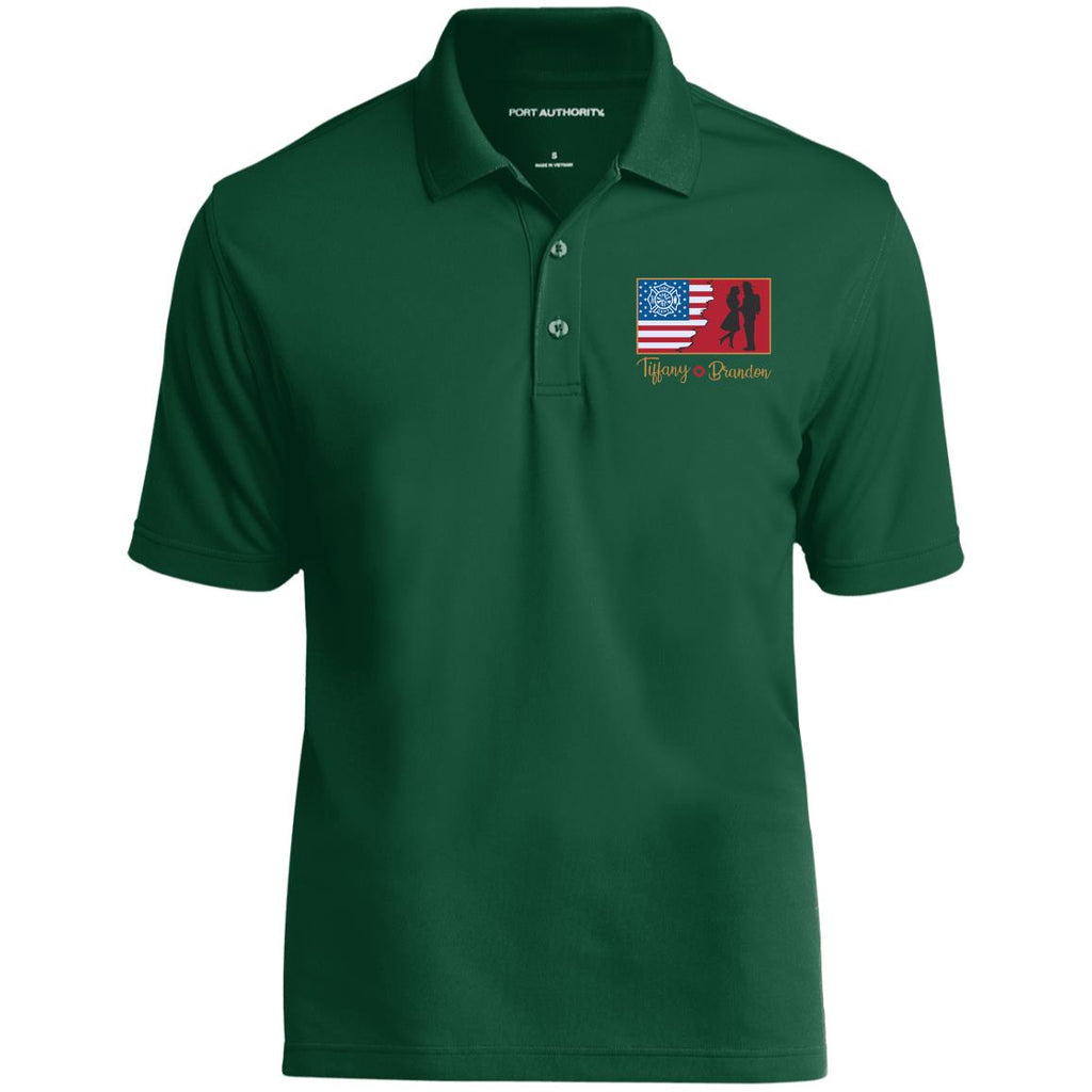 Love FF Personalized Text K110 Dry Zone UV Micro-Mesh Polo