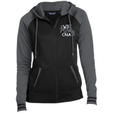 Wife Mom CNA Embroidered LST236 Sport-Tek Ladies' Sport-Wick® Full-Zip Hooded Jacket