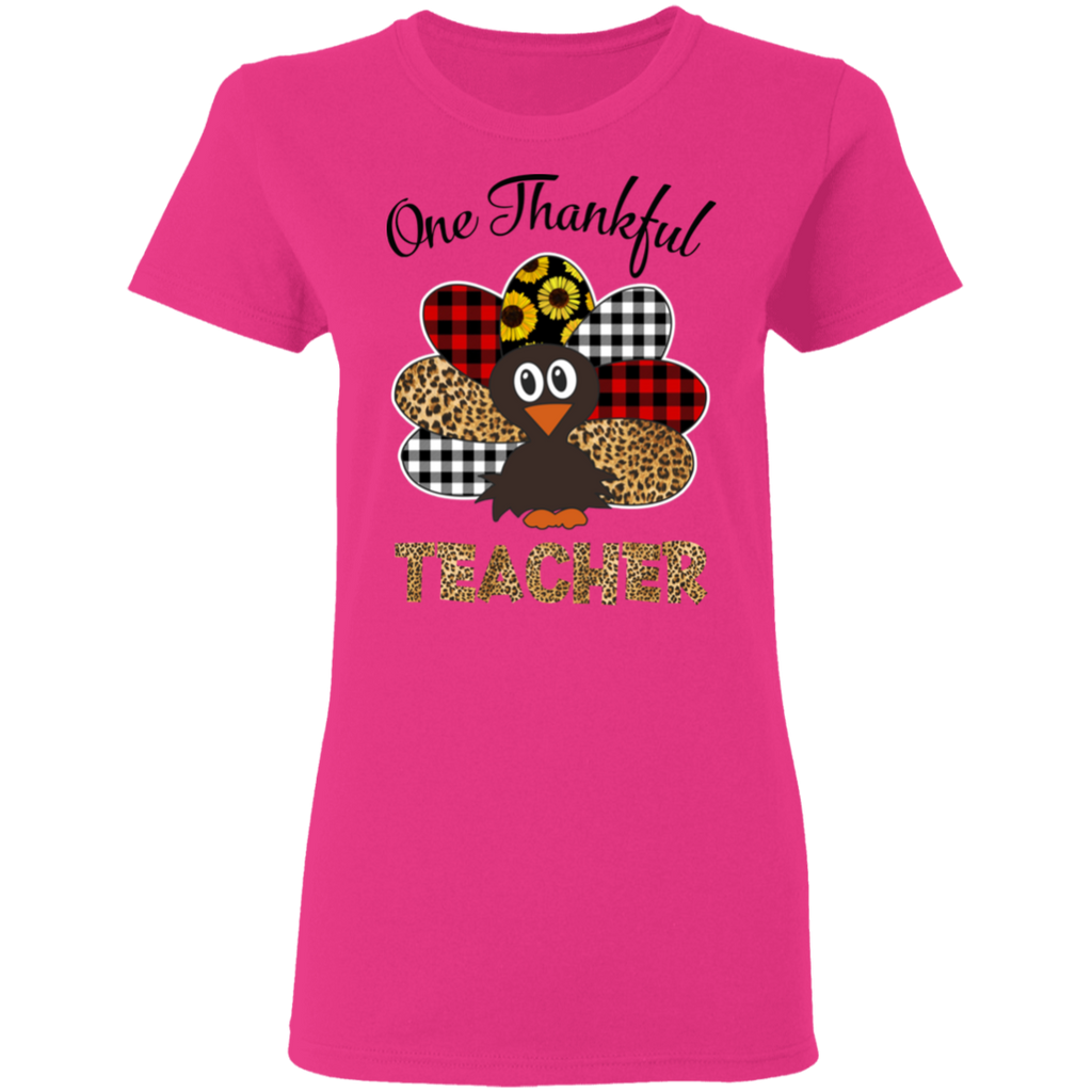 one thankful 2 G500L Gildan Ladies' 5.3 oz. T-Shirt