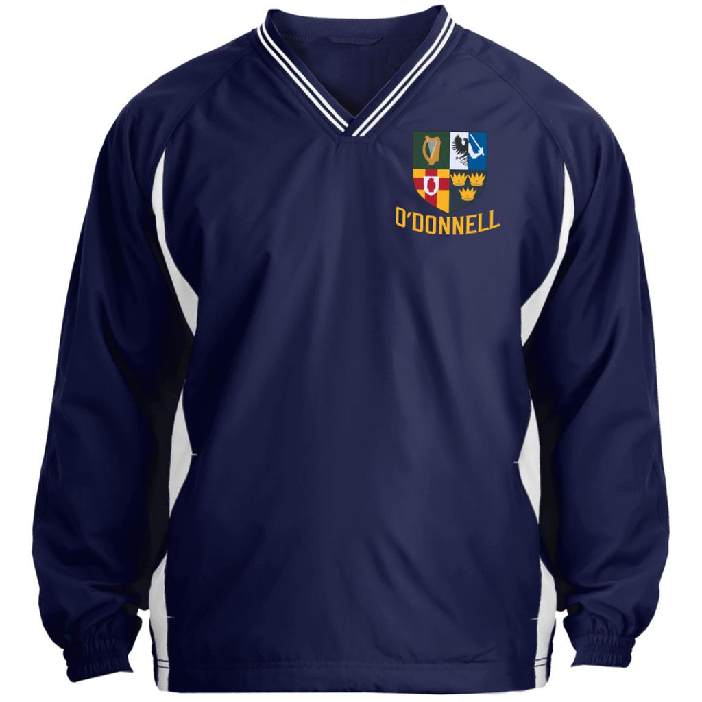Irish Provinces Personalized Name Embroidery JST62 Tipped V-Neck Windshirt