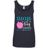 TEACHER OF TINY HUMANS 1 882L Anvil Ladies' 100% Ringspun Cotton Tank Top