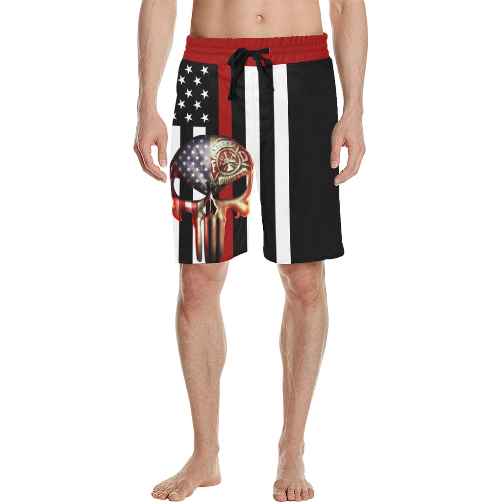 SKULL FF THIN RED LINE Casual Shorts