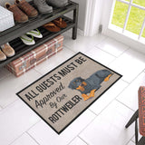"All Guests Must Be Approved By Our ROTTWEILER Doormat 23.6"" x 15.7"""
