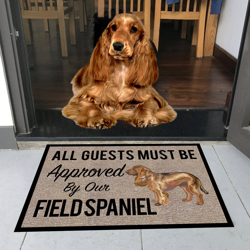 "All Guests Must Be Approved By Our FIELDSPANIEL Doormat 23.6"" x 15.7"""