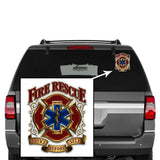 Axe Firefighter Thin Red Line Clear Sticker