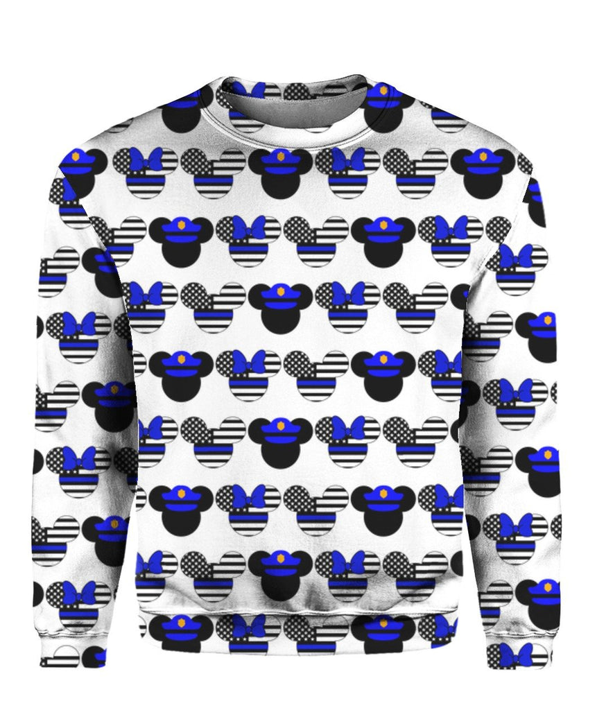Mick Thin Red Blue Line 3D Tees Sweatshirts Hoodies