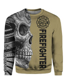 Firefighter Skull 3D Zip & Hoodies