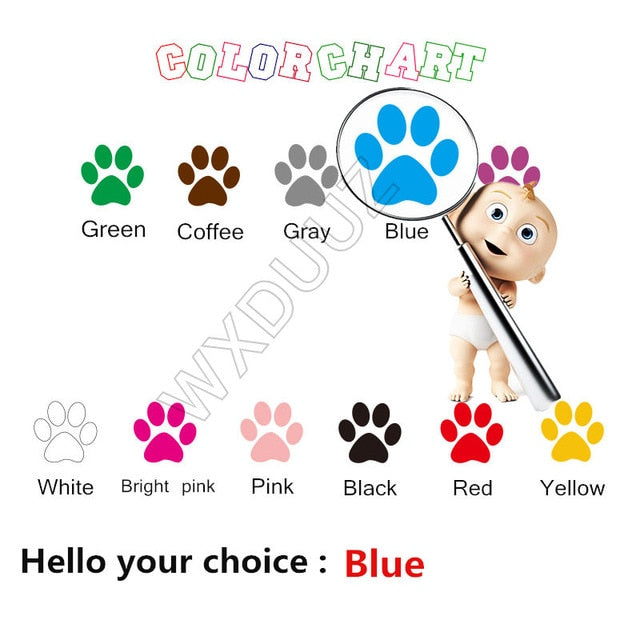 German Shepherd Alsation Personalised Pet Name Wall Decal Sticker Art Any Colour Nursery Kids Room Wall Decor D661