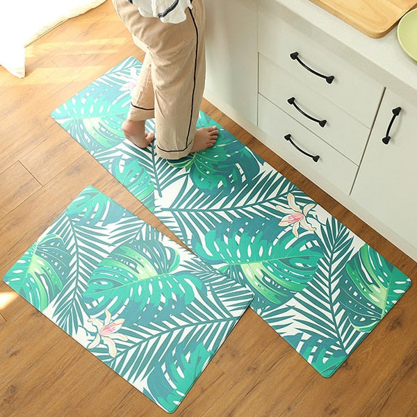 Infant Shining PU Floor Mat Kitchen Mat Leather 1PCS Carpet 45X150CM Waterproof Oilproof Mat 5MM Thickness Non-slip Door Mat