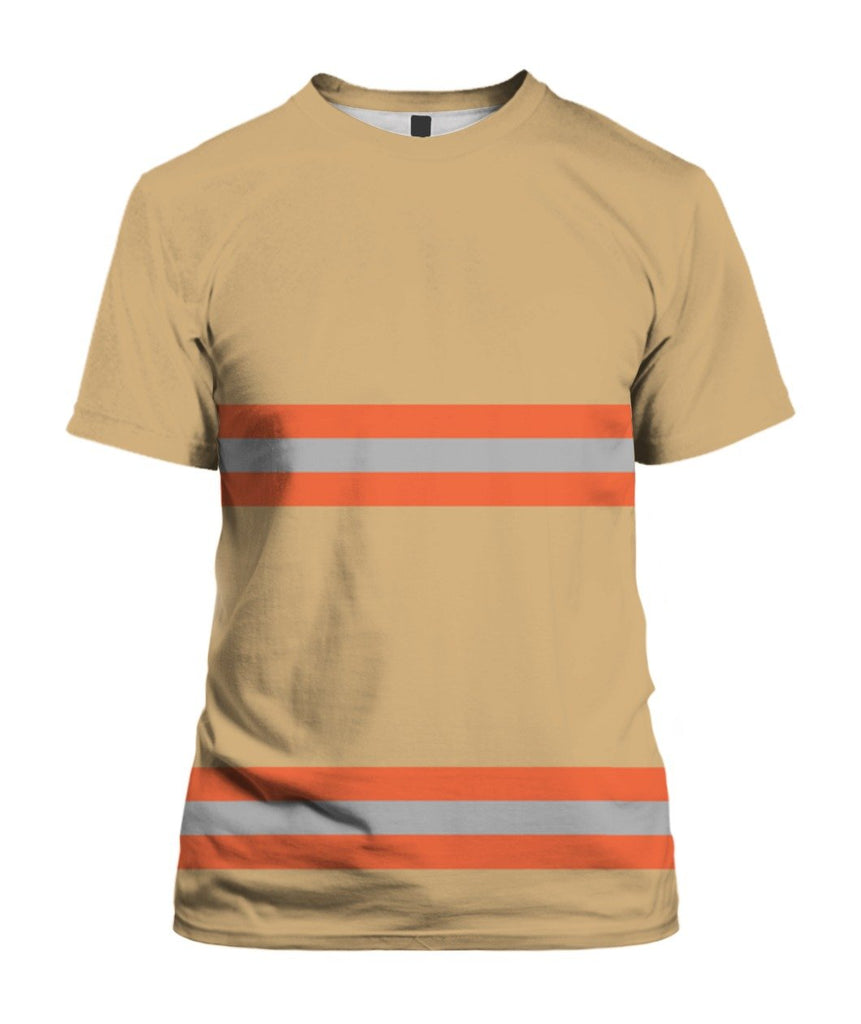 Uniform Firefighter 3D Tees