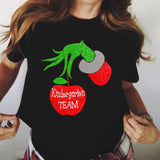 APPLE HAND KINDERGARTEN TEAM - Personalized Teacher Shirts - Custom Teacher Shirt - Gift For Teacher - Teaching Shirt -Custom Name