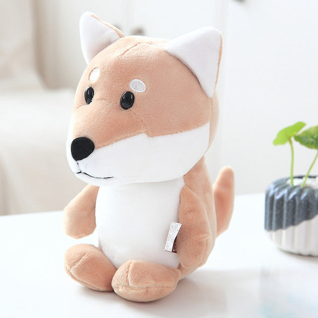 Kawaii Puppy Stuffed Toys 20cm Cute Simulation Corgi Schnauzer Husky Dog  Plush Toys Stuffed Doll Kids Baby Toys Gift
