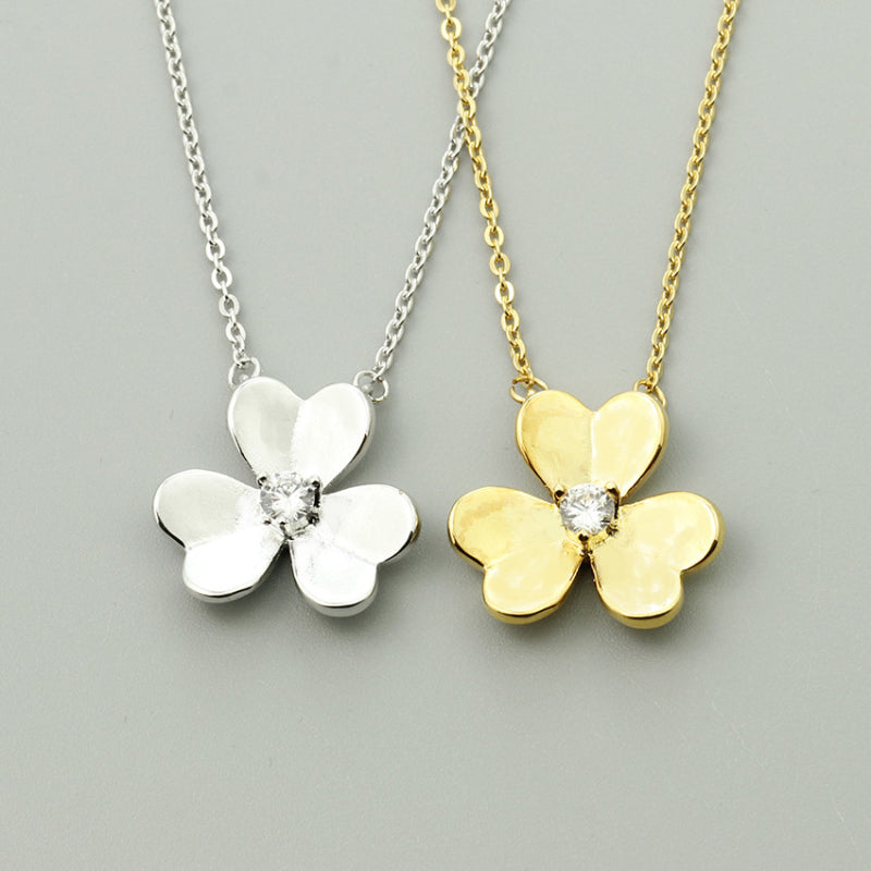 Lucky Three Leaf Clover Necklace