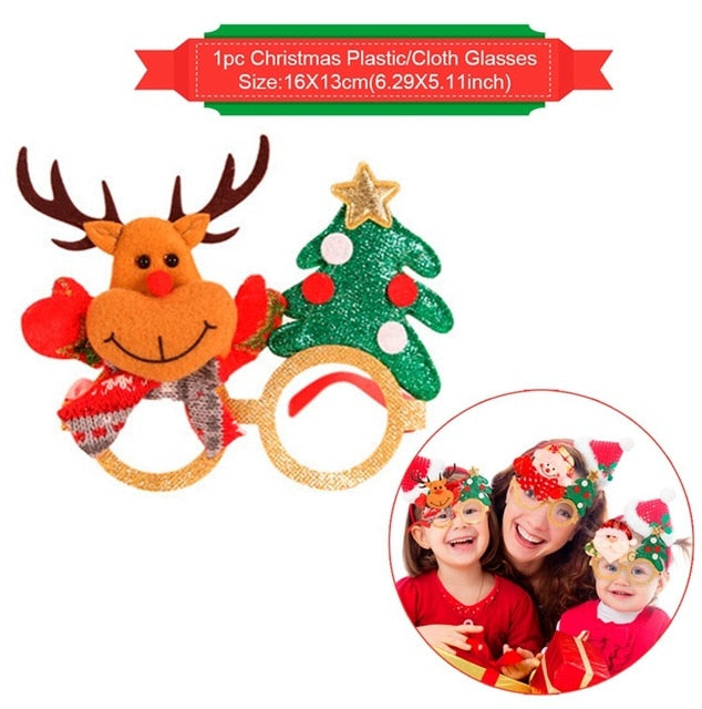 Merry Christmas Decoration For Home Presents Christmas Gifts 2019 Natale Noel Cristmas Glasses Xmas Decor Navidad New Year 2020