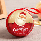 Box Sealed Jar Christmas Coin Storage Cans Earrings Headphones Storage Kids Xmas Tree Decoration Candy Box Baroque