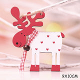 New Year 2020 Latest DIY Craft Wooden Elk Ornaments Children's Gifts Noel Christmas Decorations for Home Xmas Tree Wood Pendant