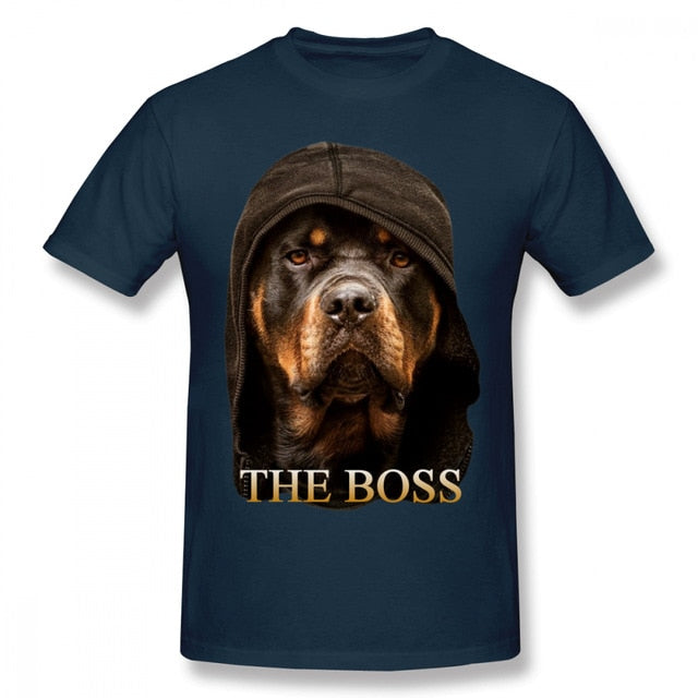 Rottweiler T Shirt Cotton Short Sleeve Tee Shirt Cute Tshirt