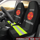 Firefighter Uniform Personalized Text Car Seat Covers (Set of 2)
