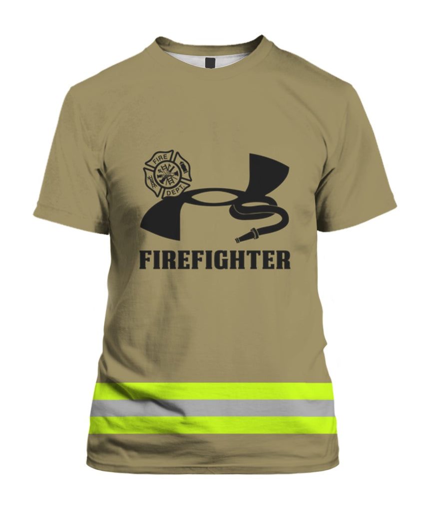 Uniform Firefighter Brown 3D Tees