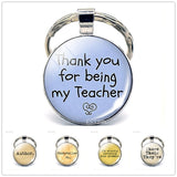 Thank you for being my Teacher Silver Plated KeyChain