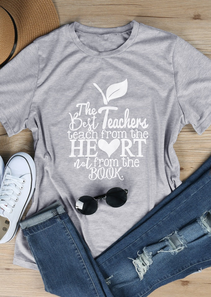 The Best Teachers Short Sleeve T-Shirt harajuku babygirl kawaii slogan shirt graphic tees grunge aesthetic vintage tops t shirt