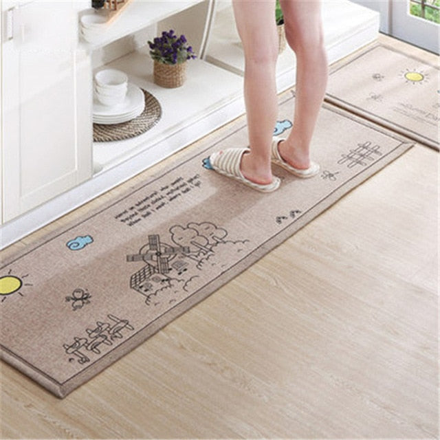Wholesale Prices Japanese Style Soft Kitchen Mats For Kitchen Door Carpets For Living Room Kitchen Floor Door Mat Rug Decorate