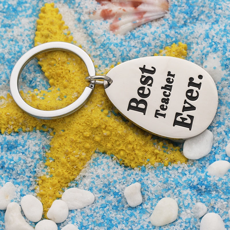Keychain 'Best Teacher Ever' New Fashion Men Women Key Ring Thanksgiving / Teachers Day Gifts Accessories