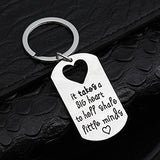 Key Chains Teacher Gifts It Takes a BIG Heart to Help Shape Little Minds Keychain Keyring
