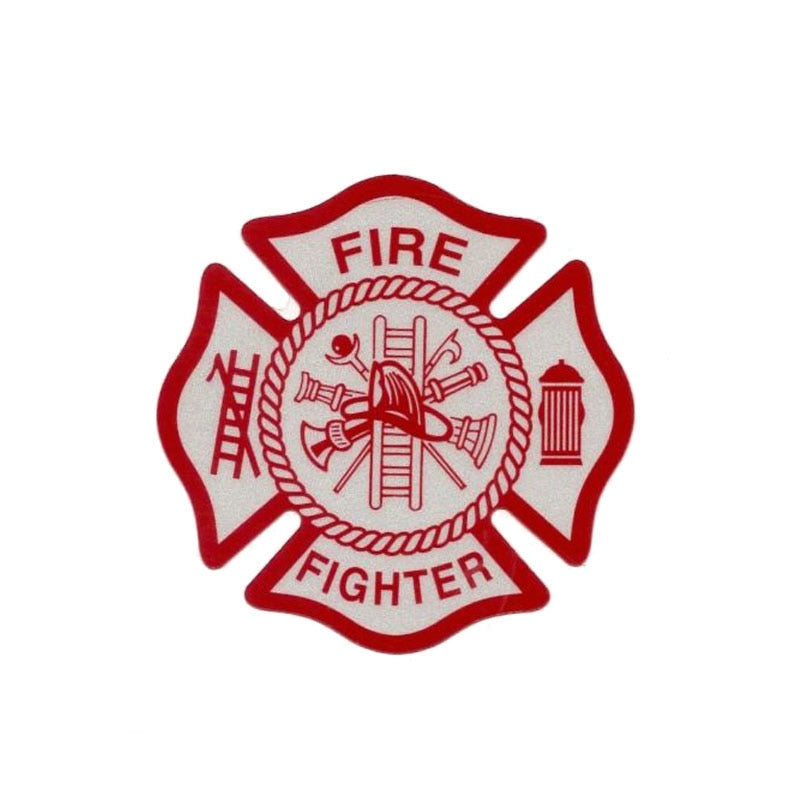 YJZT 14CM*14CM Warning Fire Fighter Funny Decal PVC Car Sticker 12-0462