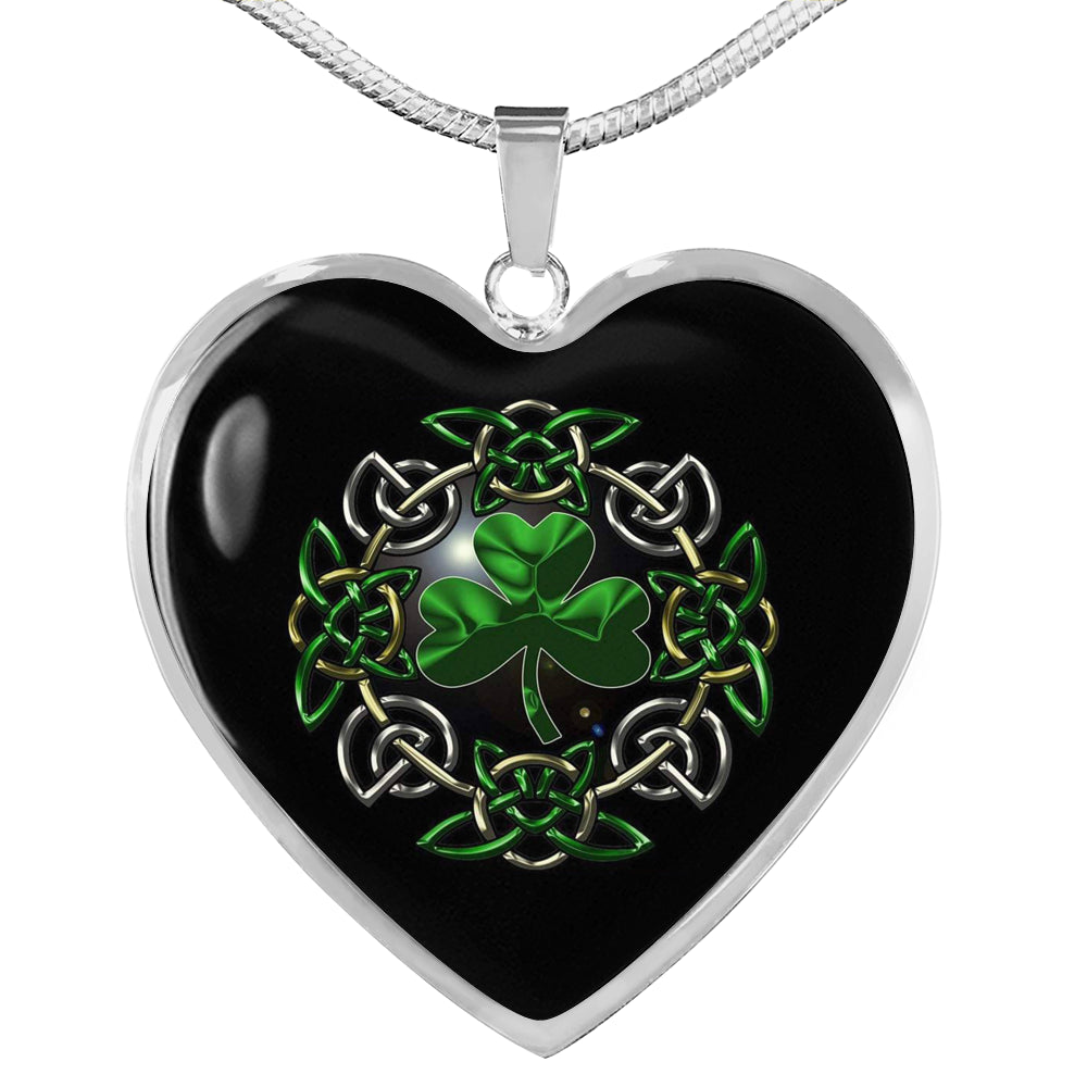 Irish Shamrock Heart Necklace (🇺🇸USA Made)