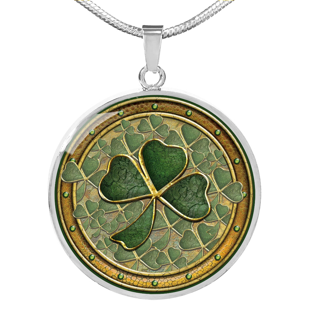 Shamrock Round Necklace (🇺🇸USA Made)
