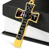 I Can Do All Things Through Christ Nurse Luxury Cross - Military Ball Chain
