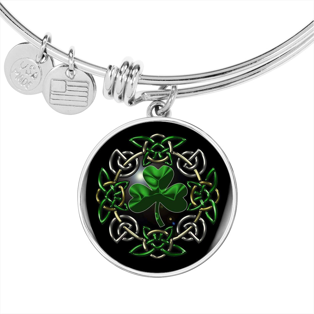 Irish Shamrock Bangle Bracelet (🇺🇸USA Made)