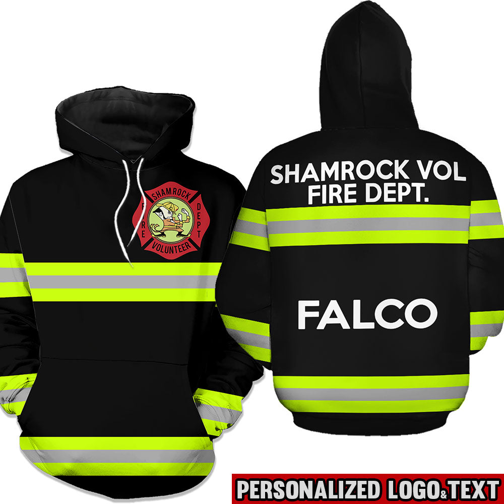 Firefighter Black & Brown Personalized Logo & Text 3D Hoodies