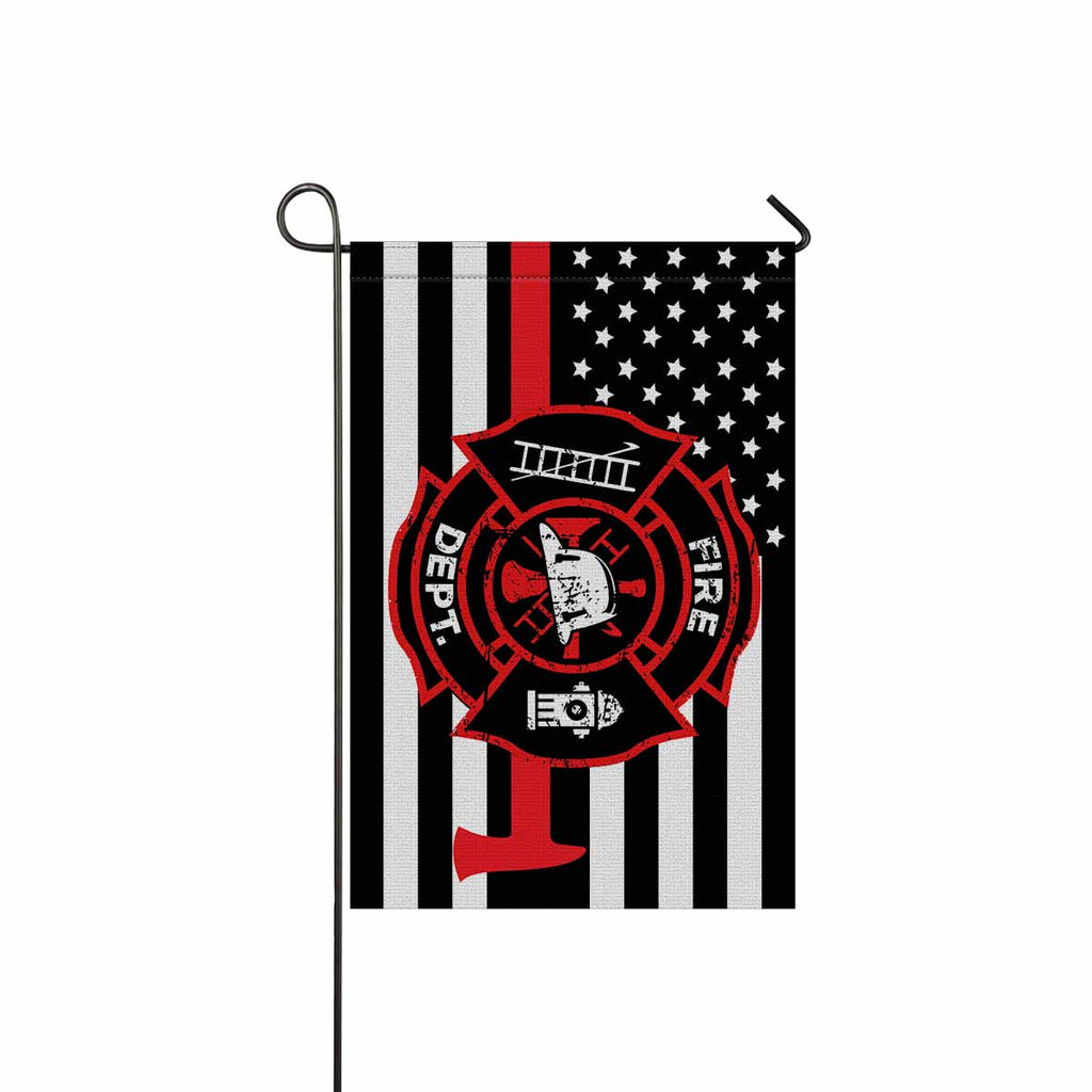 FIRE DEPT Garden Flag/Yard Flag 12 inches x 18 inches Twin-Side Printing
