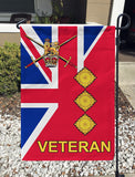 British Army Captain Veteran Garden Flag/Yard Flag 12 inches x 18 inches Twin-Side Printing
