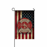 FIREFIGHTER Garden Flag/Yard Flag 12 inches x 18 inches Twin-Side Printing